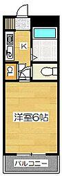 サンライズビル[4階]の間取り