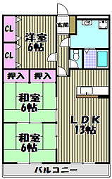 ラグジェレディK弐号館[3階]の間取り