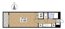 ボヌール五番館[1階]の間取り