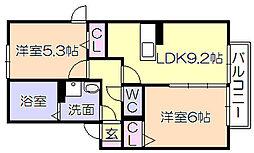 セジュール・アルジェントB棟[108号室]の間取り