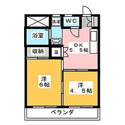 村瀬商事ビル[6階]の間取り