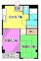 マンションパール[1階]の間取り