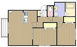北海道札幌市東区北十六条東17丁目の賃貸マンションの間取り