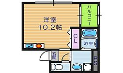 ヒルズビュー寺田町BLD[6階]の間取り