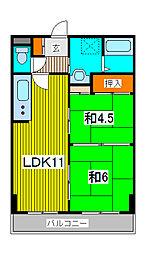 シンハイム武蔵浦和[3階]の間取り