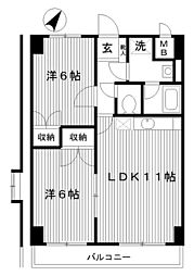 東京都練馬区早宮2丁目の賃貸マンションの間取り