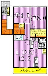 ブリエII[2階]の間取り