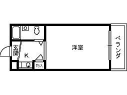 ユウパレス穴田[4階]の間取り