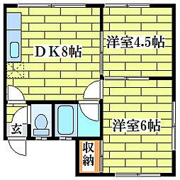 コーポ扇原[2階]の間取り