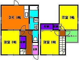 [一戸建] 静岡県浜松市中区住吉5丁目 の賃貸【静岡県 / 浜松市中区】の間取り