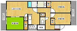 エトワール大善寺[2階]の間取り