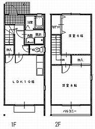 [タウンハウス] 愛知県豊川市大橋町3丁目 の賃貸【/】の間取り