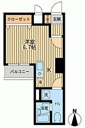 ドゥーエ西大島[0610号室]の間取り