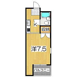 ハウスオブローゼ[207号室]の間取り