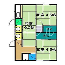 南風荘[2階]の間取り