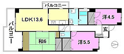 サーパス土居田(東)[308 号室号室]の間取り