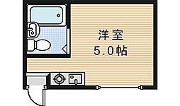北畠ハイツUTS[401号室]の間取り