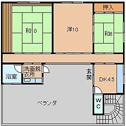 中岡住居[2階]の間取り