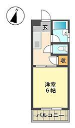 大丸マンション[2階]の間取り