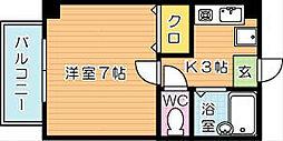 プレアール祇園[2階]の間取り