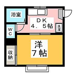 リバーハウス  A棟[1階]の間取り