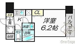 AQUAPLACE UMEDAIII[12階]の間取り