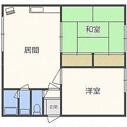 ハイツ喜多[3階]の間取り