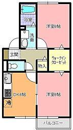 仲屋コーポ大宮[1階]の間取り