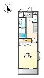 愛知県名古屋市北区米が瀬町の賃貸アパートの間取り