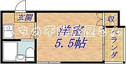 ハイツオーキタ高殿[4階]の間取り