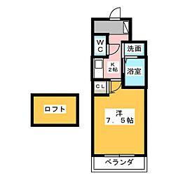 ITALIAN第九平松ビル[6階]の間取り