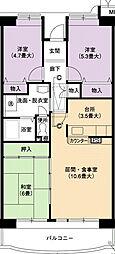 URアーバンラフレ小幡5号棟[7階]の間取り