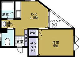 キタムラハイツ[3階]の間取り