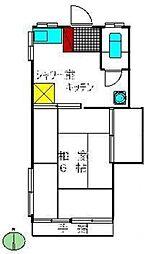 メゾンクレール1[2階]の間取り