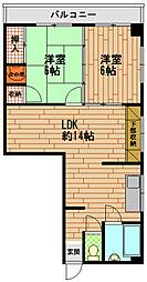 赤浦マンション[2階]の間取り