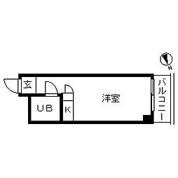 ハイシティ高田馬場[0512号室]の間取り