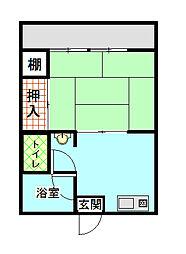 上國料アパートI[1階]の間取り