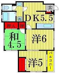 西新井レジデンス[1階]の間取り