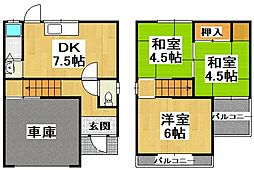 [一戸建] 大阪府堺市中区田園 の賃貸【/】の間取り