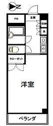 ナカジママンション[4階]の間取り