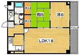 第2クラウンマンション[202号室]の間取り