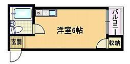 Osaka Metro谷町線 都島駅 徒歩5分の賃貸マンション 4階ワンルームの間取り