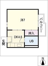 OBAZUKA5 YOU YOUC棟[1階]の間取り