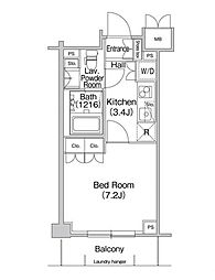 コンフォリア駒場[1階]の間取り