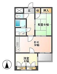ナカソウマンション[1階]の間取り