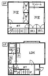 [一戸建] 青森県八戸市東白山台3丁目 の賃貸【青森県 / 八戸市】の間取り