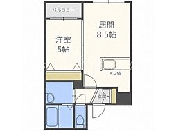 プレミアシティ札幌東 4階1LDKの間取り