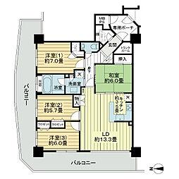 ライオンズタワー仙台広瀬[3階]の間取り