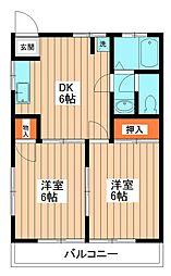 レイクハイム[2階]の間取り
