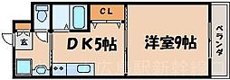広島県広島市東区中山中町の賃貸マンションの間取り